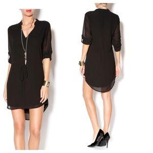 NAKED ZEBRA Chiffon Shirt Dress, Medium